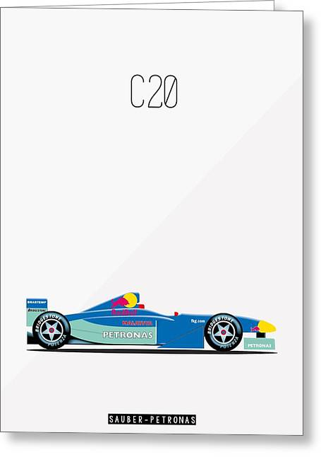 Sauber Petronas C20 F1 Poster Greeting Card by Beautify My Walls