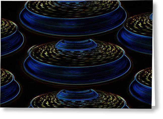 Flying Saucer Greeting Cards - Saucers Greeting Card by David Lee Thompson