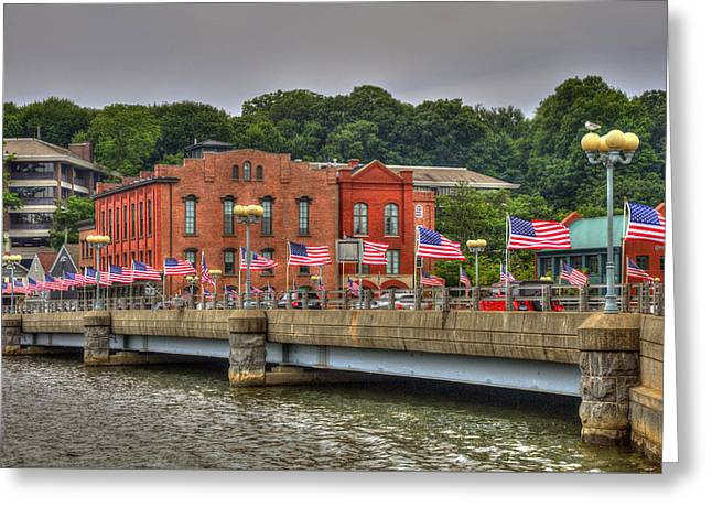 Saugatuck River Bridge - Westport Greeting Card
