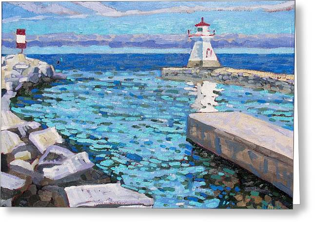 Saugeen Range Light Greeting Card