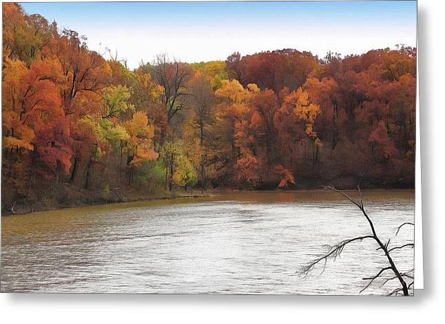 Sauk Lake Autumn Greeting Card