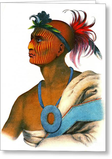 Sauk Warrior 1842 Greeting Card