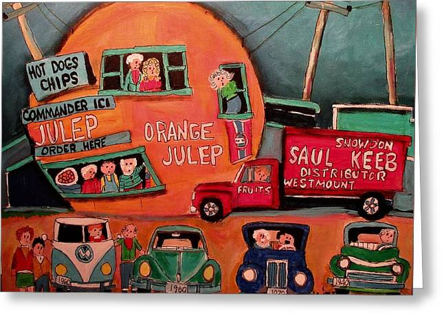 Saul Keeb Delivery At The Orange Julep Greeting Card