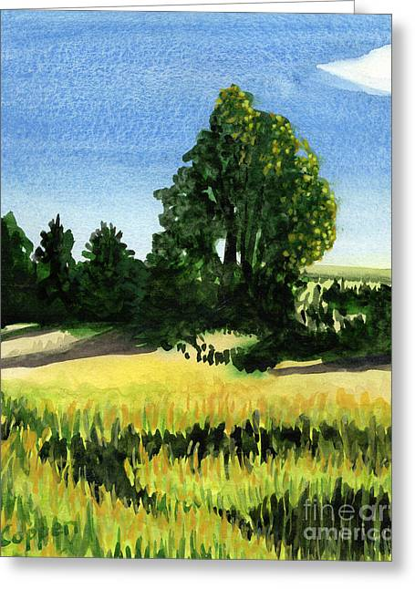 Greeting Card featuring the painting Sauquoit Creek Shadows by Robert Coppen