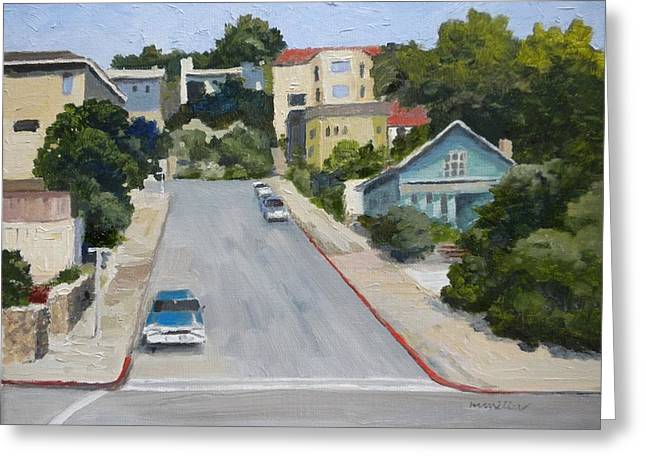 Sausalito Street Greeting Card by Maralyn Miller