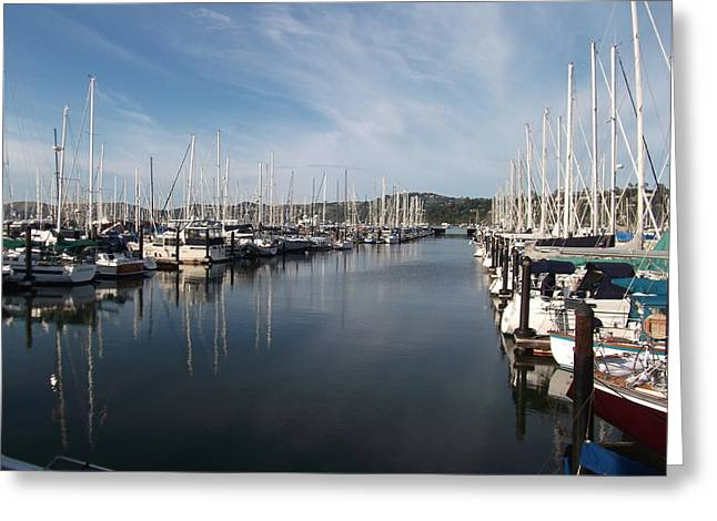 Sausalito Yacht Harbor - The Best Harbor In The San Francisco Bay Area. Greeting Card