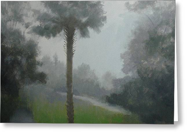 Savanna Fog Greeting Card by Robert Rohrich