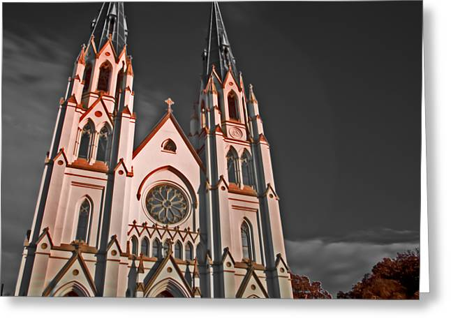 Savanna Georia Church Color Infrared 74 Greeting Card by Rolf Bertram