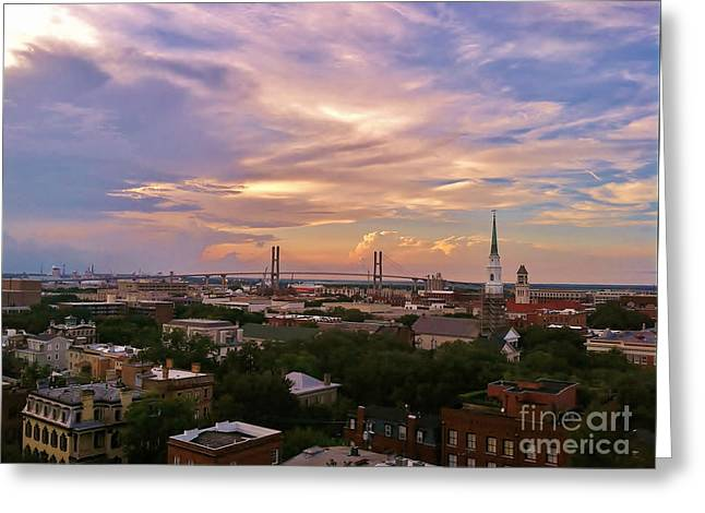 Savannah At Sunset Greeting Card
