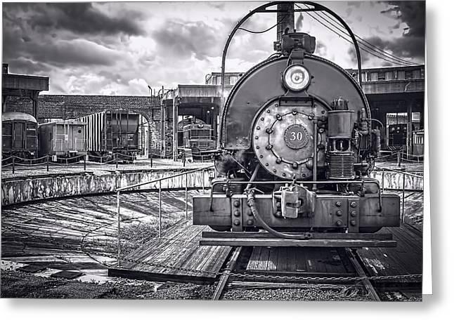 Savannah Central Train Yard Greeting Card