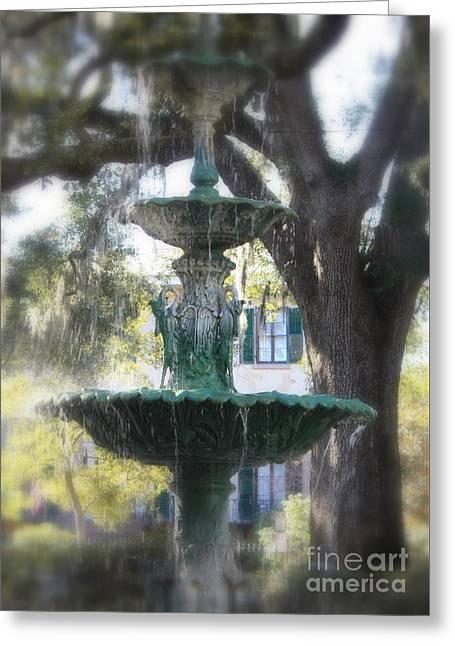 Savannah Green Greeting Card by Carol Groenen