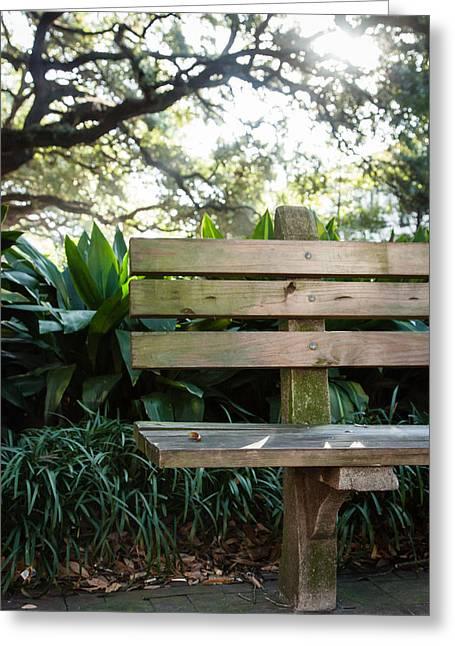 Savannah Park Bench Greeting Card