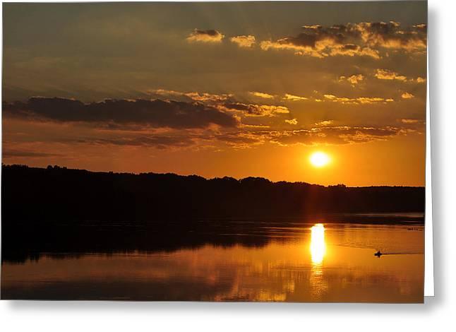 Savannah River Sunset Greeting Card