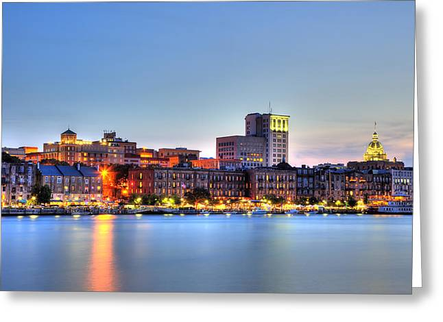 Savannah Skyline Greeting Card