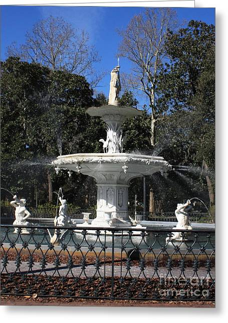 Savannah Square Fountain Greeting Card