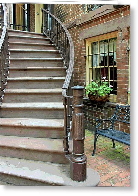Savannah Stairway II Greeting Card by Suzanne Gaff