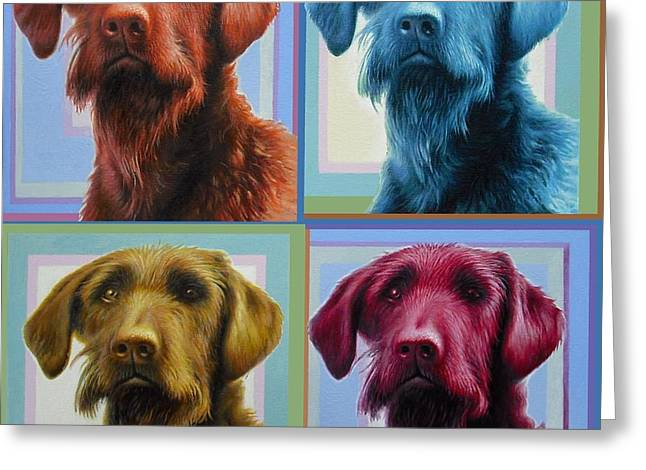 Savannah The Labradoodle Greeting Card