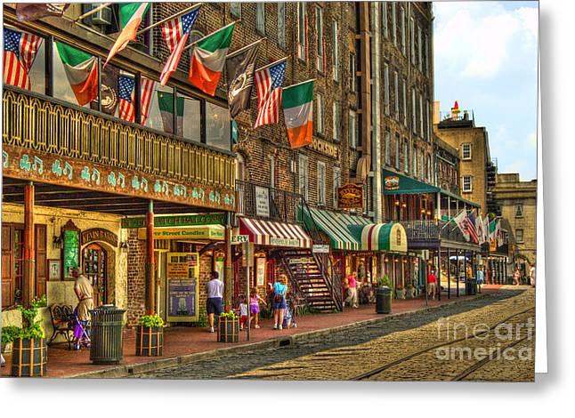 Savannah Waterfront Greeting Card