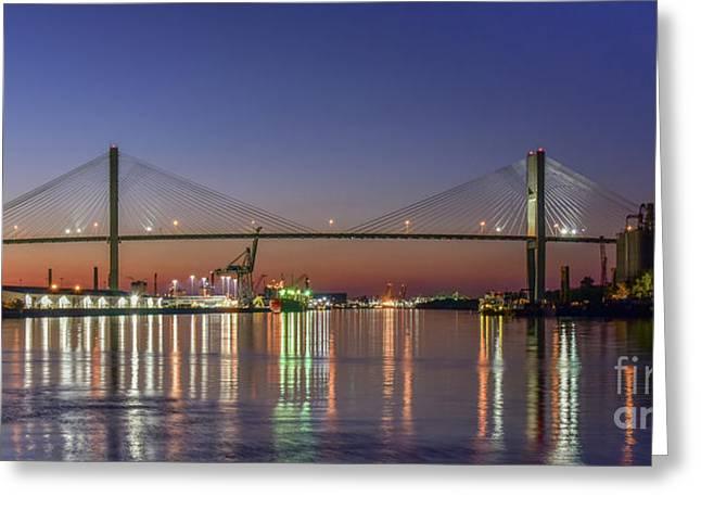 Savannah's Talmadge Memorial Bridge Greeting Card