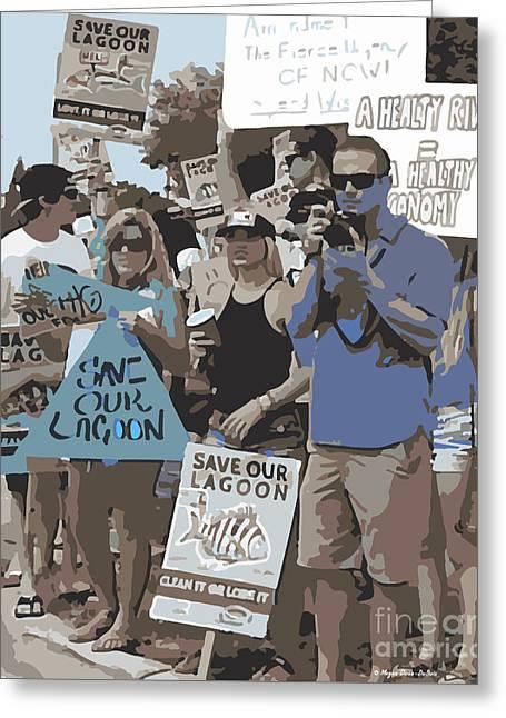 Save Our Lagoon Greeting Card by Megan Dirsa-DuBois