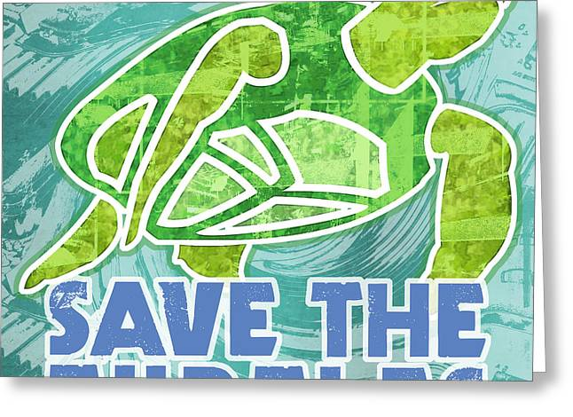 Save The Turtles Greeting Card by Mary Ogle