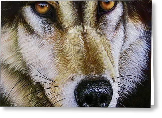 Save The Wolf Greeting Card by Jurek Zamoyski