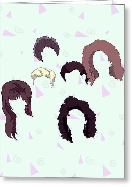 Saved By The Hair Greeting Card