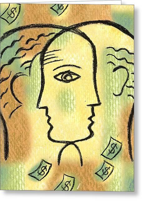 Savings Greeting Card by Leon Zernitsky