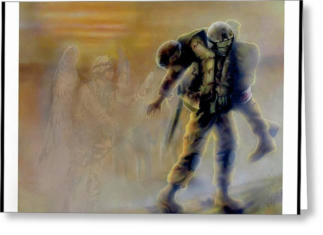 Savior In A Storm Greeting Card by Todd Krasovetz