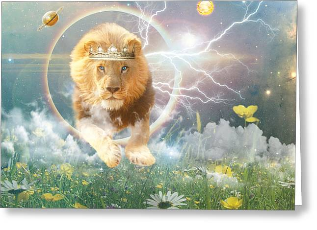 Savior King Greeting Card by Dolores Develde