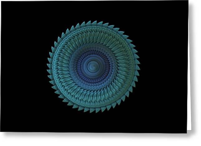 Greeting Card featuring the digital art Sawblade by Lyle Hatch