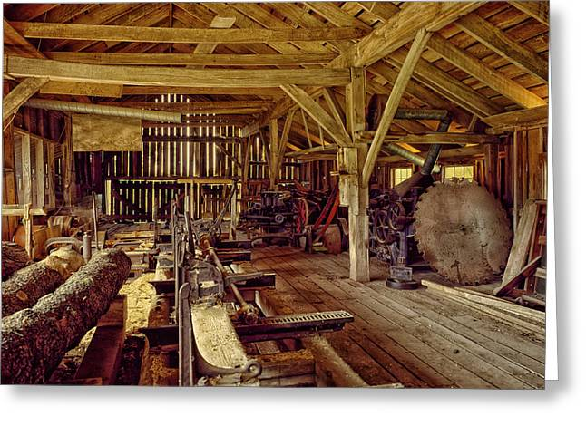 Sawmill Interior Greeting Card by Mountain Dreams