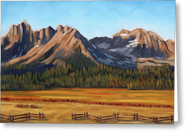 Sawtooth Mountains - Iron Creek Greeting Card