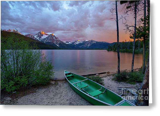 Sawtooth Paddle Greeting Card by Idaho Scenic Images Linda Lantzy