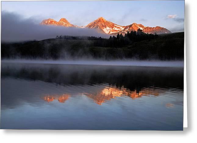 Sawtooth Sunrise In Stanley Idaho Greeting Card by Vishwanath Bhat