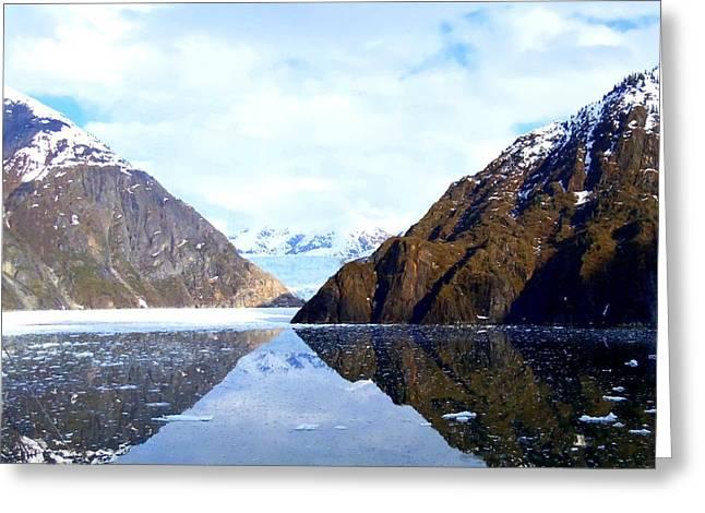 Sawyer Glacier 2 Greeting Card by Randall Weidner