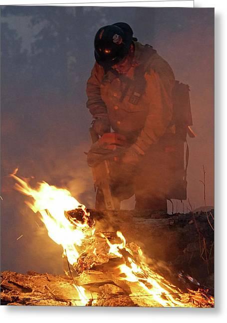 Sawyer, North Pole Fire Greeting Card