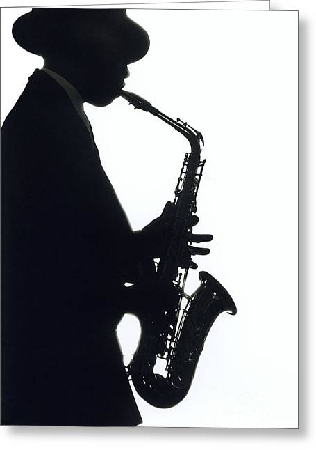 Sax 2 Greeting Card by Tony Cordoza