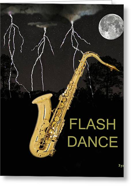 Sax Flash Dance Greeting Card