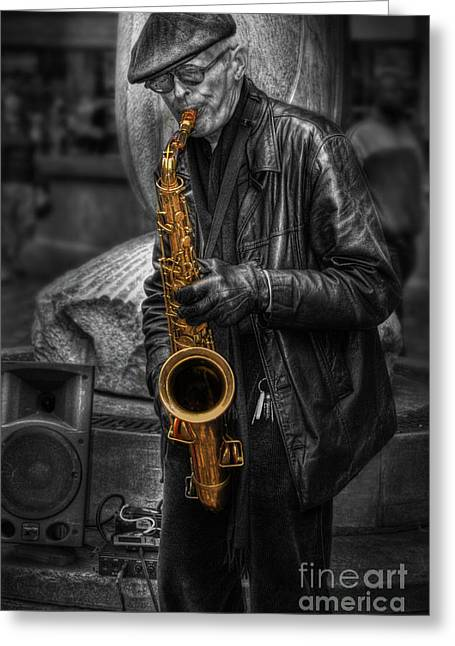 Sax Love Greeting Card