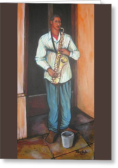 Saxophone 1 Greeting Card