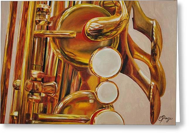 Saxophone Greeting Card