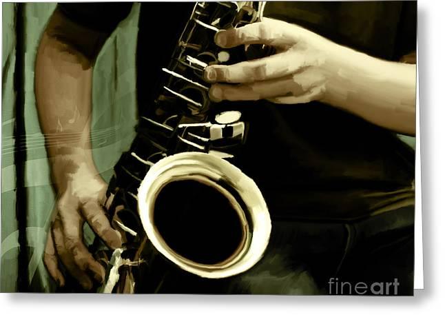 Saxophone   Greeting Card by Gull G