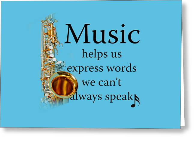 Saxophones Express Words Greeting Card