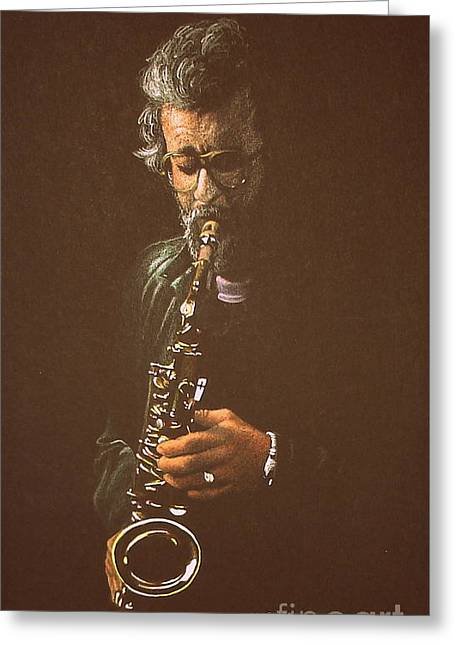 Saxophonist Greeting Card
