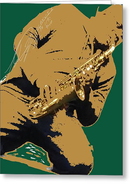 Saxual Passion Greeting Card