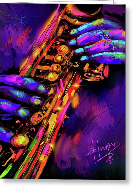 Saxy Hands Greeting Card