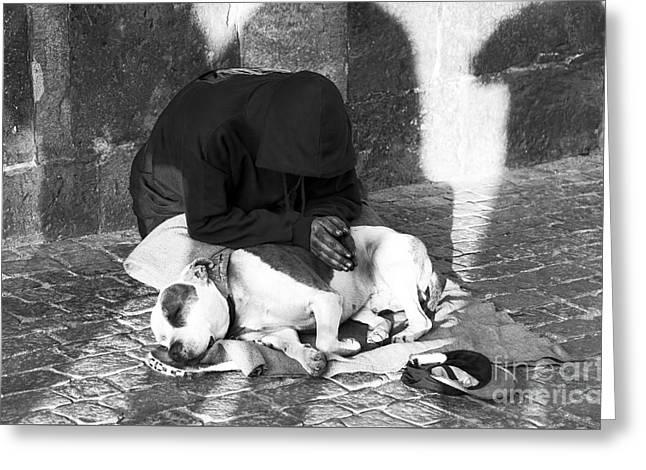 Say A Prayer In Prague Greeting Card by John Rizzuto