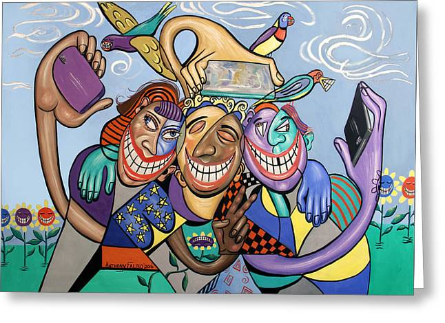 Say Cheese Selfie Greeting Card by Anthony Falbo