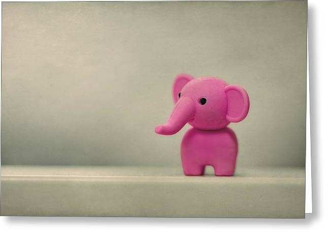 Toy Greeting Cards - Say Hello To My Little Friend Greeting Card by Evelina Kremsdorf